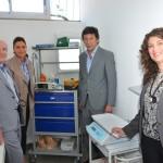 (De Izq a Der) José Luis Roiz, presidente y fundador de Zona Vital; Karina Mazzoco; Gustavo Posse, Intendente de San Isidro; Dra. María José Fattore, Directora del Centro.