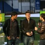 Leandro Marín, Jonathan Calleri y Fernando Carolei